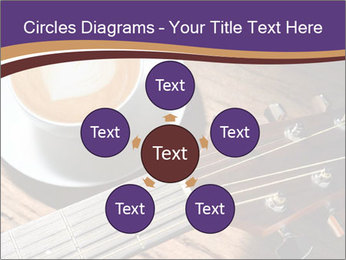 Coffee and fingerboard of the guitar. PowerPoint Template - Slide 78