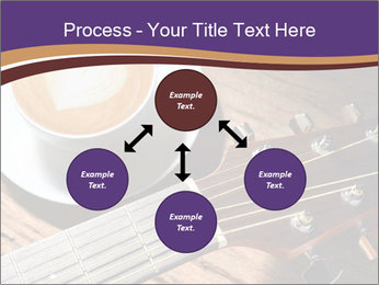 Coffee and fingerboard of the guitar. PowerPoint Template - Slide 91