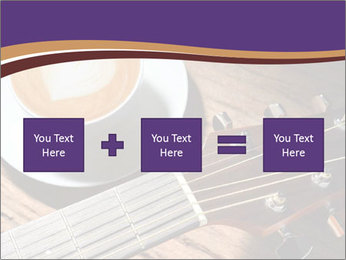 Coffee and fingerboard of the guitar. PowerPoint Template - Slide 95