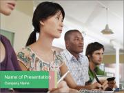 Meeting a group of people PowerPoint Template