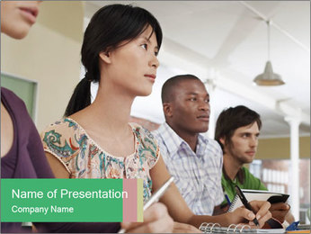 Meeting a group of people PowerPoint Template - Slide 1