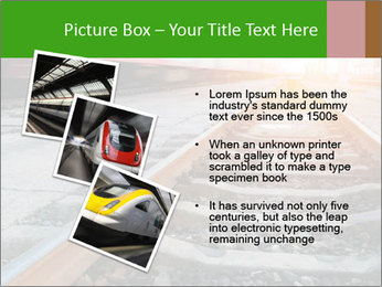 Railway and fast moving train. PowerPoint Template - Slide 17