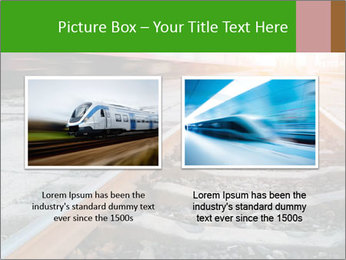 Railway and fast moving train. PowerPoint Template - Slide 18