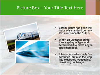 Railway and fast moving train. PowerPoint Template - Slide 20