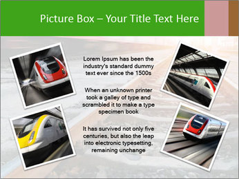 Railway and fast moving train. PowerPoint Template - Slide 24