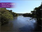 The riverbed, wonderful nature. PowerPoint Template