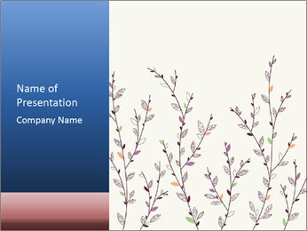 Floral background. The nature of the interior design. PowerPoint Template - Slide 1
