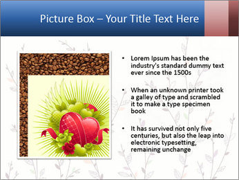 Floral background. The nature of the interior design. PowerPoint Template - Slide 13