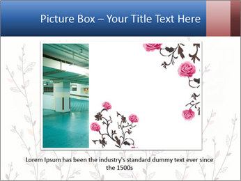 Floral background. The nature of the interior design. PowerPoint Template - Slide 15