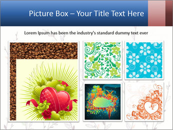 Floral background. The nature of the interior design. PowerPoint Template - Slide 19