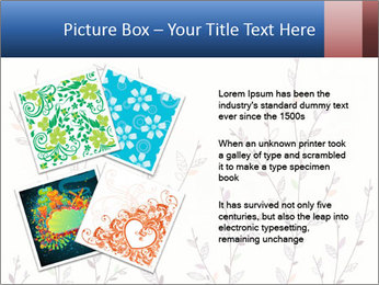 Floral background. The nature of the interior design. PowerPoint Template - Slide 23