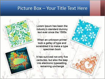 Floral background. The nature of the interior design. PowerPoint Template - Slide 24