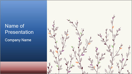 Floral background. The nature of the interior design. PowerPoint Template