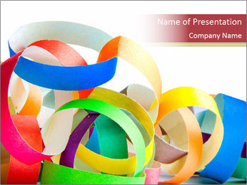 Colorful spiral paper for parties PowerPoint Template