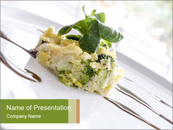 Vegan Salad PowerPoint Template - Slide 1