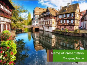 Strasbourg City PowerPoint Template - Slide 1