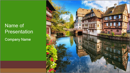 Strasbourg City PowerPoint Template
