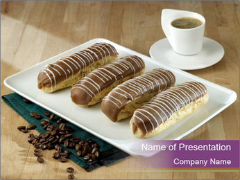 Cakes and coffee PowerPoint Template - Slide 1