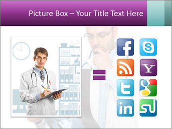 Doctor Examines X-Ray PowerPoint Template - Slide 21