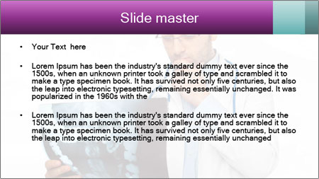 Doctor Examines X-Ray PowerPoint Template - Slide 2