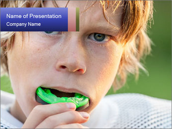 American football PowerPoint Template - Slide 1