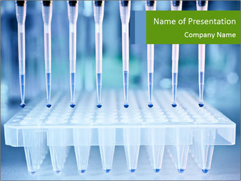 Test tubes for blood tests PowerPoint Template - Slide 1