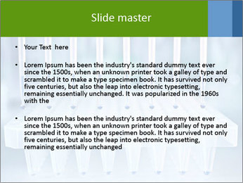 Test tubes for blood tests PowerPoint Template - Slide 2