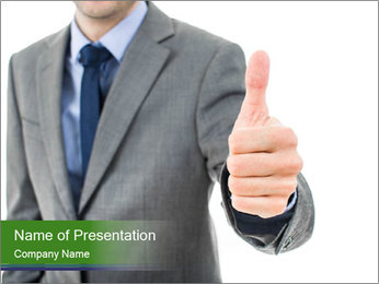 Businessman Shows Approval Gesture PowerPoint Template