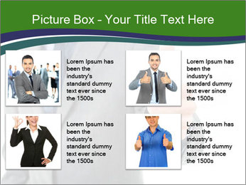 Businessman Shows Approval Gesture PowerPoint Template - Slide 14