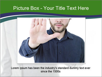 Businessman Shows Approval Gesture PowerPoint Template - Slide 16