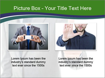 Businessman Shows Approval Gesture PowerPoint Template - Slide 18