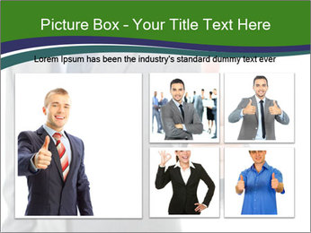 Businessman Shows Approval Gesture PowerPoint Template - Slide 19