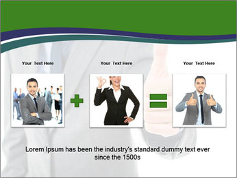 Businessman Shows Approval Gesture PowerPoint Template - Slide 22