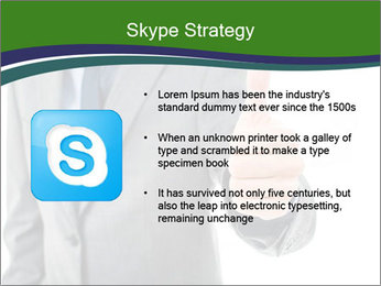 Businessman Shows Approval Gesture PowerPoint Template - Slide 8