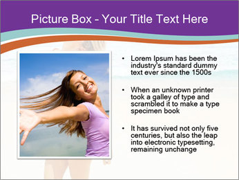 Beautiful Lady On Beach PowerPoint Template - Slide 13