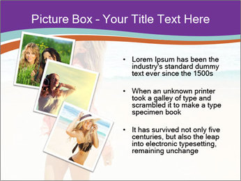 Beautiful Lady On Beach PowerPoint Template - Slide 17