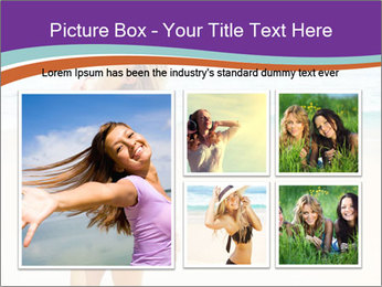Beautiful Lady On Beach PowerPoint Template - Slide 19