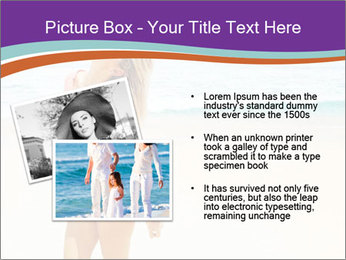 Beautiful Lady On Beach PowerPoint Template - Slide 20