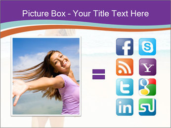 Beautiful Lady On Beach PowerPoint Template - Slide 21