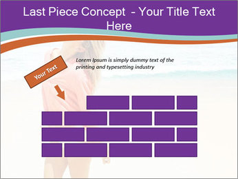 Beautiful Lady On Beach PowerPoint Template - Slide 46