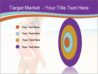 Beautiful Lady On Beach PowerPoint Template - Slide 84