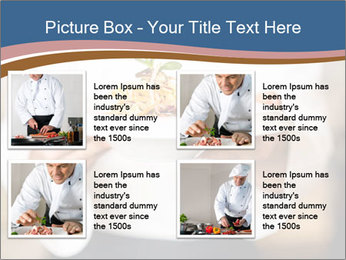 Chef Holding Dish PowerPoint Template - Slide 14