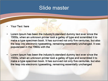 Chef Holding Dish PowerPoint Template - Slide 2