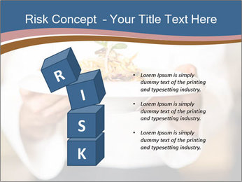 Chef Holding Dish PowerPoint Template - Slide 81