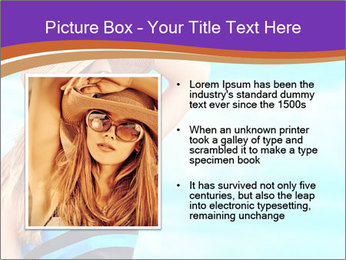 Woma Wearing Beach Hat PowerPoint Template - Slide 13