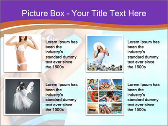 Woma Wearing Beach Hat PowerPoint Template - Slide 14