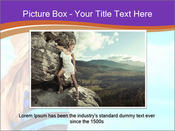 Woma Wearing Beach Hat PowerPoint Template - Slide 16