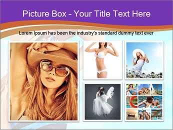 Woma Wearing Beach Hat PowerPoint Template - Slide 19