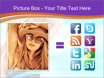 Woma Wearing Beach Hat PowerPoint Template - Slide 21