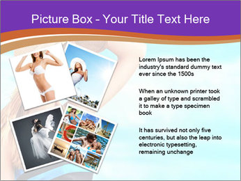 Woma Wearing Beach Hat PowerPoint Template - Slide 23
